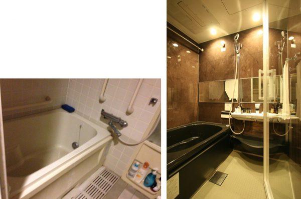 改装前 | 改装後浴室