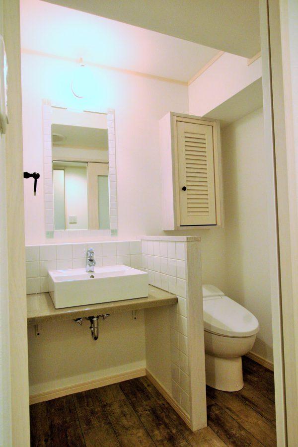改装後洗面トイレ